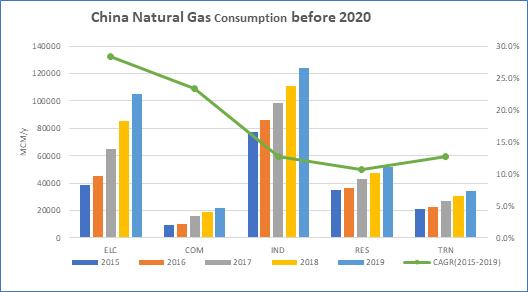 China NG Consumption before 2020